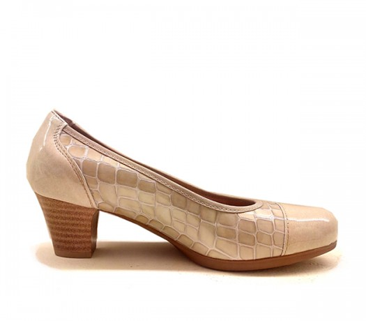 Zapatos Pitillos Mujer Perla
