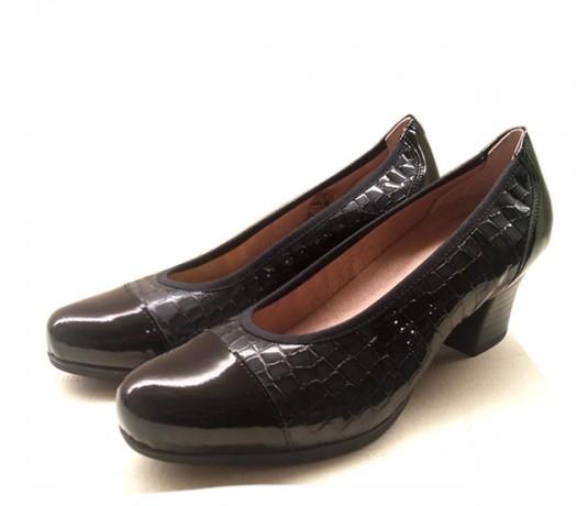 Zapatos Corte Salón Pitillos 1630 negro