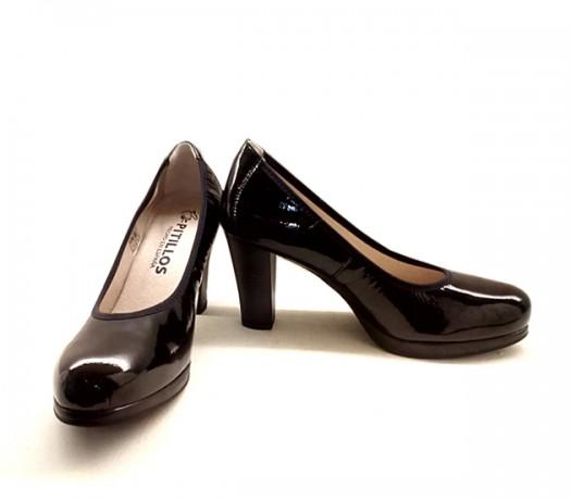 Zapatos Pitillos 1269 Charol Negro