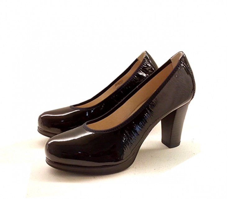 Zapatos pitillos 1269 charol negro - Charol zapateria ...