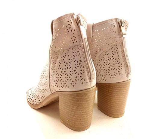 Sandalias Mujer Caladas Beige