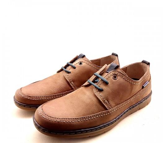 Zapatos De Cordones En Ante 23302 Color Teja