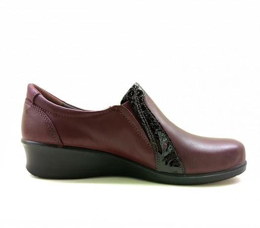 Zapatos En Cuña Mujer 21803 Color Burdeos