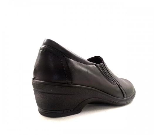 Zapato En Cuña Confort  Lady 9500 Negro
