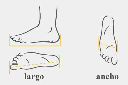 ancho del pie