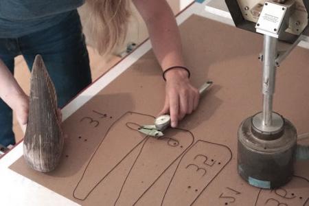 Plantillas de corte para piezas de zapatos